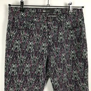 Levis Mid Rise Skinny Jeans Zig Zag Print Size 10
